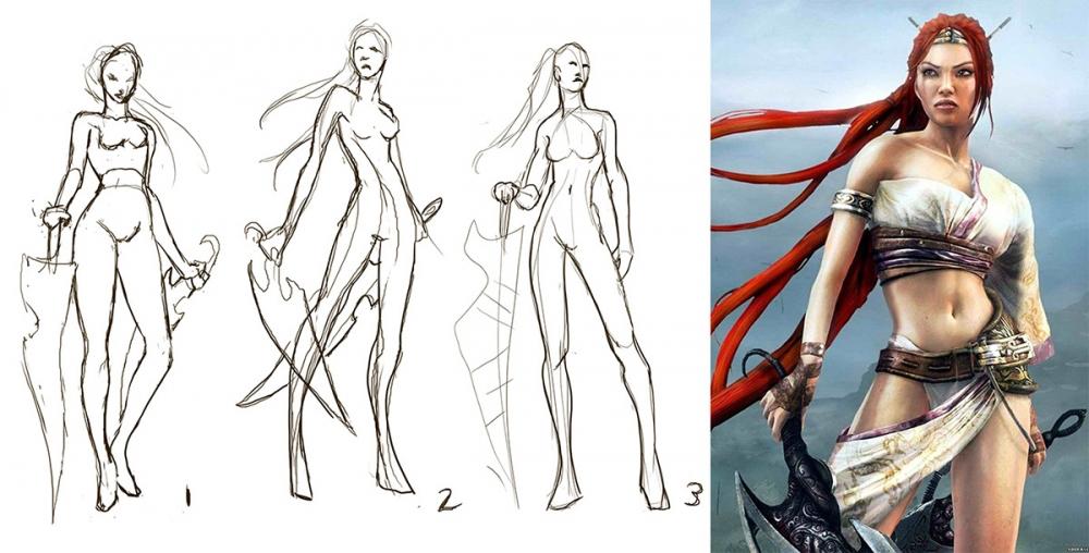 Nariko Gesture Sketches