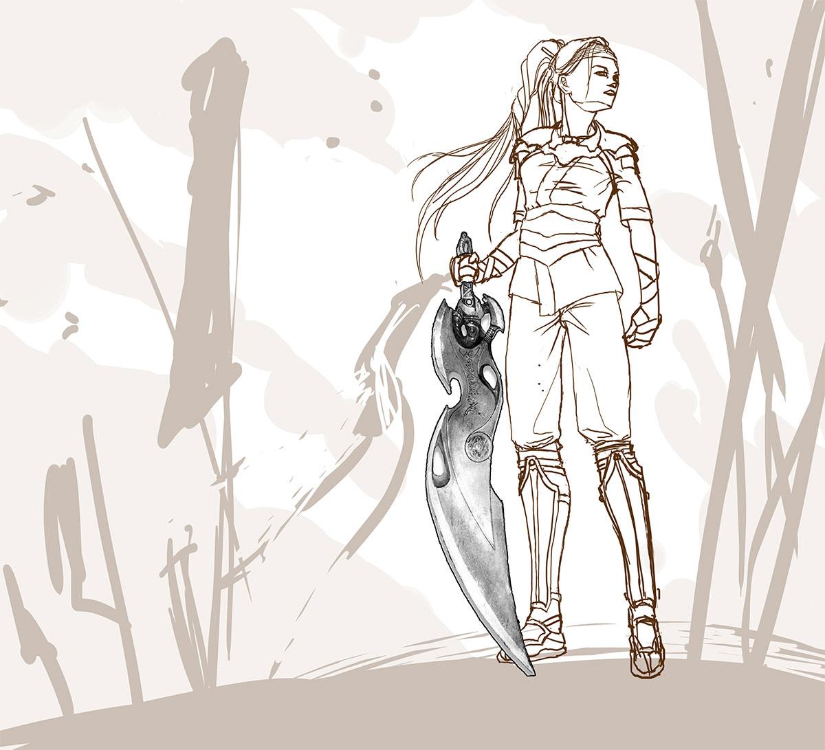Nariko First Sketch