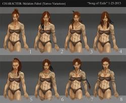 Melakim Tattoo Variations