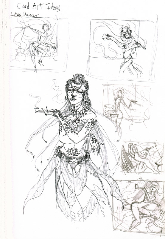 Lotus Dancer Thumbnail Sketches