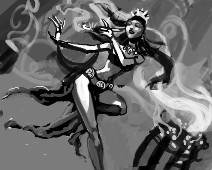 Lotus Dancer Concept Sketch